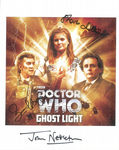 John Nettleton, Ian Hogg, Sharon Duce,  Ghost Light  DOCTOR WHO  Genuine Signed 10 x 8  - 10723